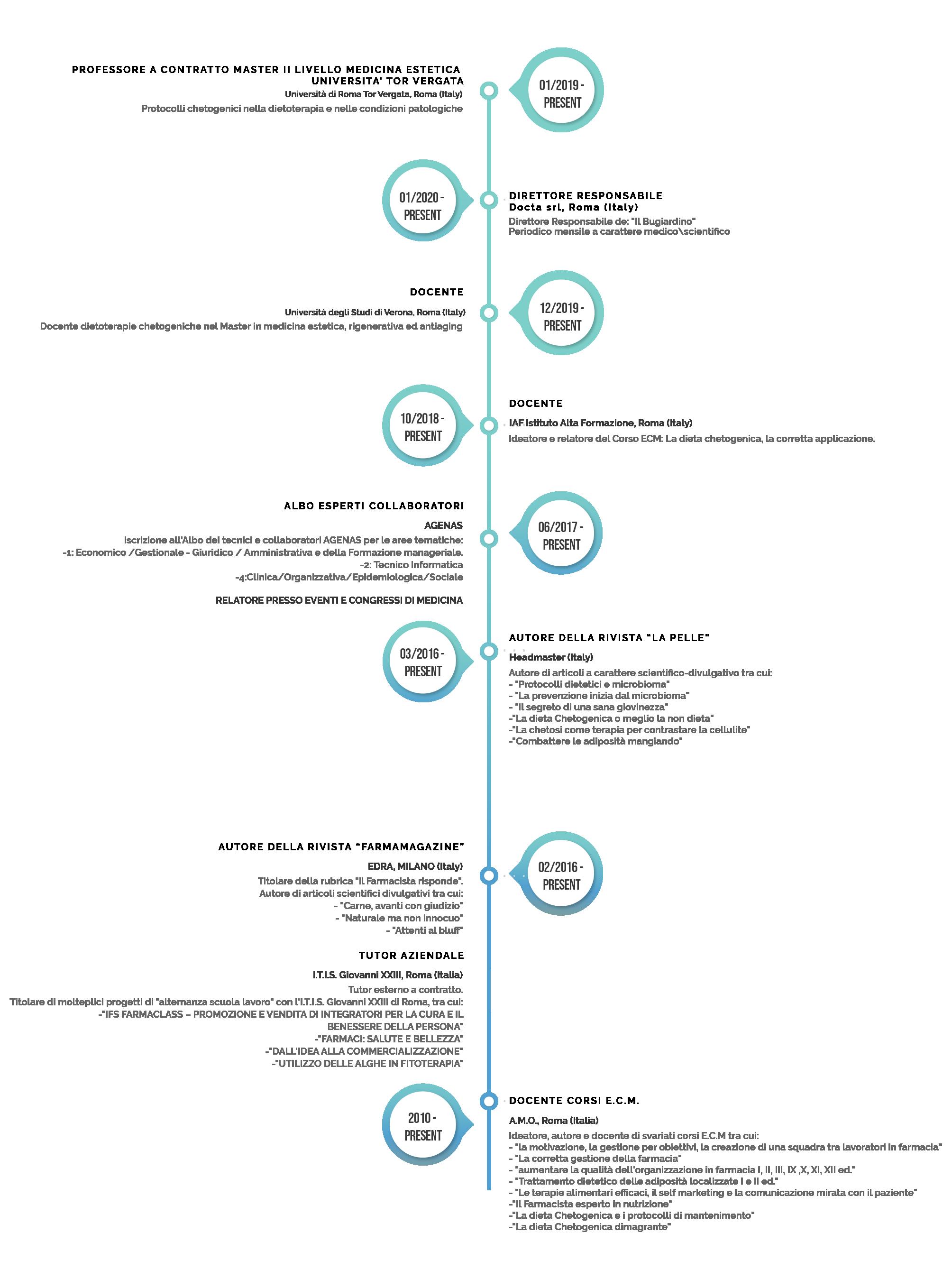 CURRICULUM VITAE timeline