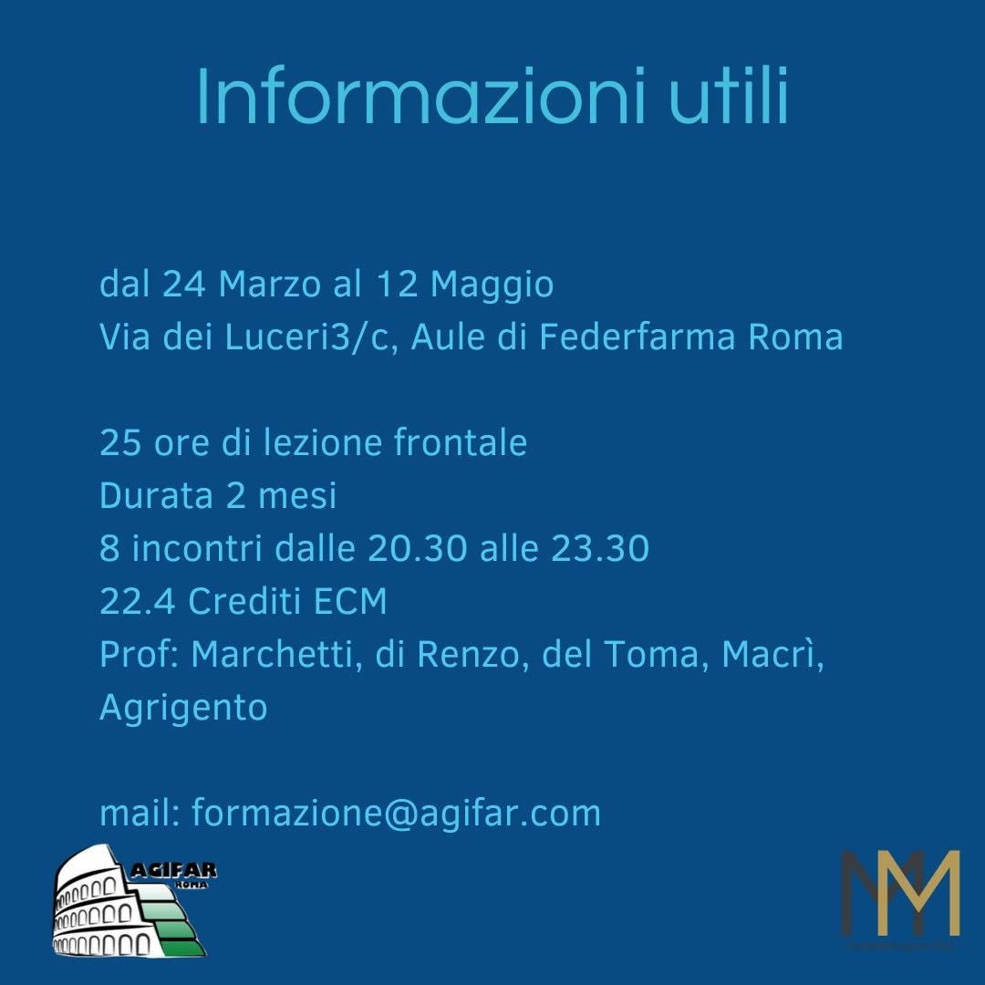 Informazioni Utili Corso ECM 24 Marzo