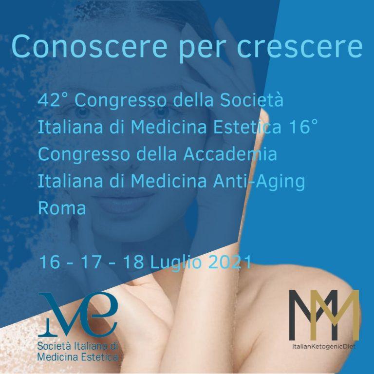 42° Congresso della Società italiana di medicina estetica 16/17/18 luglio
