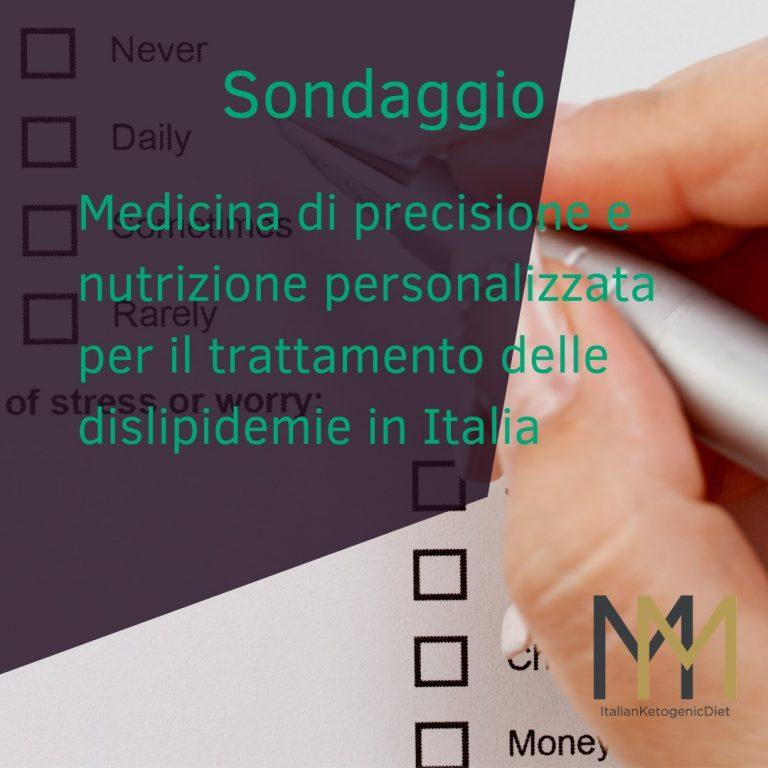 SONDAGGIO – Medicina di precisione e nutrizione personalizzata per il trattamento delle dislipidemie in Italia